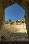 foto of akropolis  - Ancient theater under Acropolis of Athens - JPG