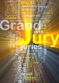 foto of jury  - Background text pattern concept wordcloud illustration of grand jury glowing light - JPG