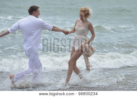 Lovely Wedding Pair On Beach
