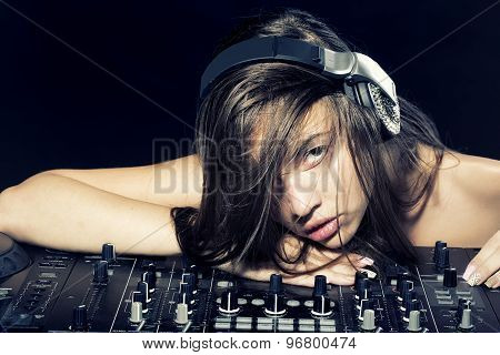 Young Disk Jockey Girl
