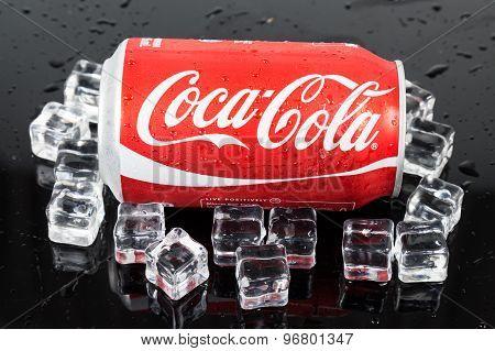 KUALA LUMPUR, MALAYSIA - AUGUST 30, 2015: Coca-cola maintain market leadership in the cola segment