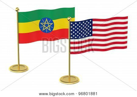 Meeting Usa  With  Ethiopia Concept