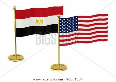 Meeting Usa  With Egypt Concept