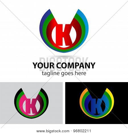 Letter K logo icon design template elements symbol