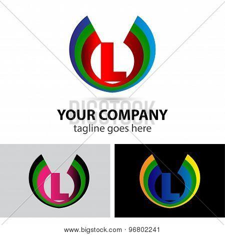 Letter L logo set
