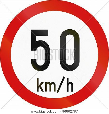 Speed Limit 50 In Ireland