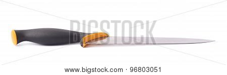 Steel kitchen knife isolated