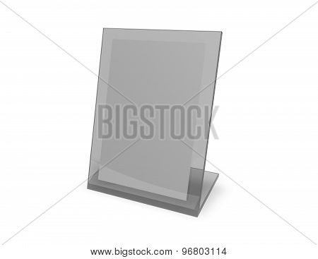 Isolated Empty Vertical Picture Frame Standing