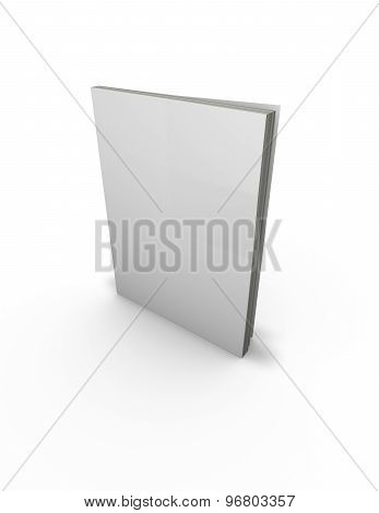 3D Copy-book, Workbook, News-book Standing Template