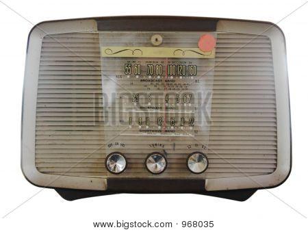 Isolierte Vintage Radio