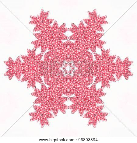 Abstract Red Pattern Shape