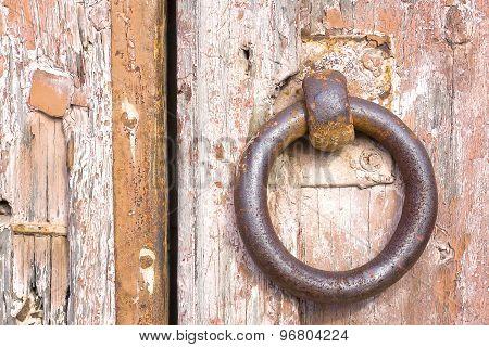 Rusty iron ring