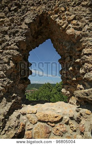View Through Castle Window