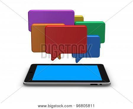 Mobile Internet Communication Concept Illustration With Chat Bubbles