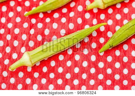 Green Okra Vegetable
