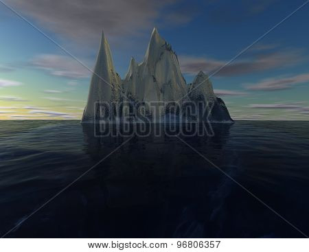 Iceberg Illustration, Subconscious Mind, Intuition Concept