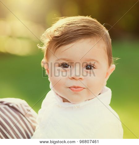 Portrait Of Beautiful Smiling Cute Baby Boy