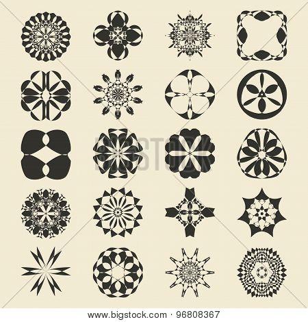 Vector Ornamental Symbols Collection. Logo Template Set.