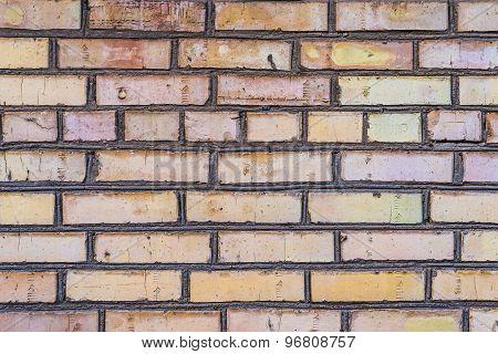 Aged grunge brick wall