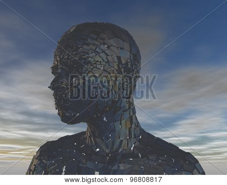 Technology World Abstract Concept With 3D Person