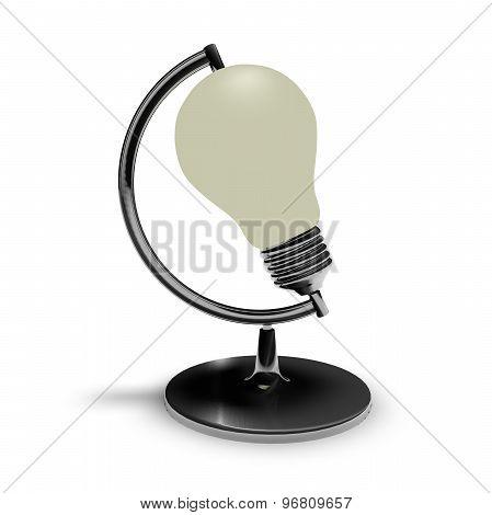 Idea Concept With Light Bulb Isolated