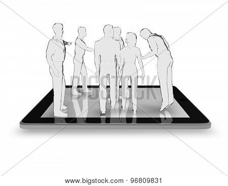 Mobile Technology Concept Illustration Isolated On White