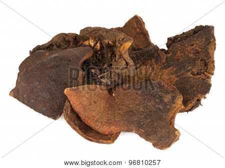 Shi Liu Pi or botanical name Punica Granatum. Is also known as dried pomegranate.
