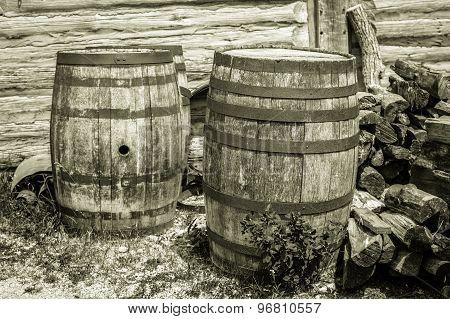 Vintage Water Barrels