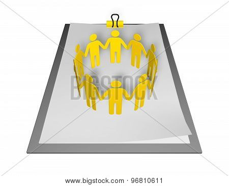Planning Strategy Together Abstract 3D Concept