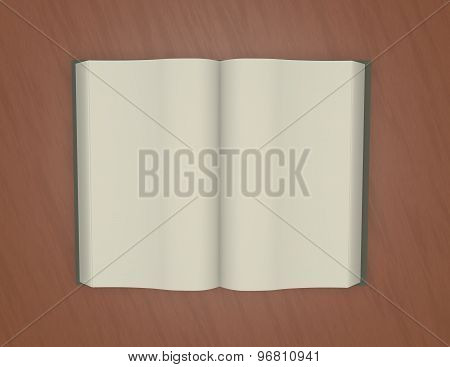 Open Empty Book On Table Illustration