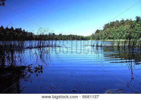 Blue sky, blue lake