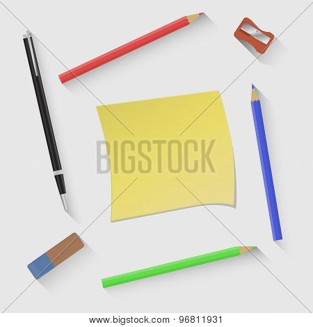 Vector illustration on the theme of  Back to school