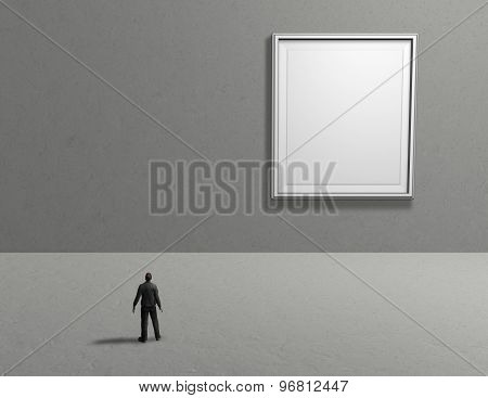 Empty Room Interior With Picture Frame And Empty Copy Space, Background For Your Presentation