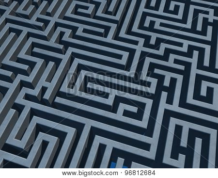 Background With 3D Maze