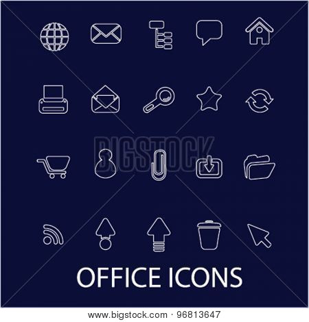 office line icons set