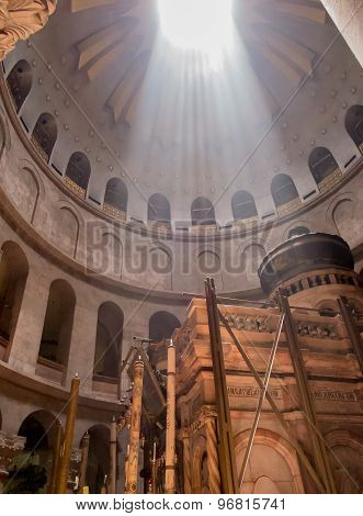 Jerusalem - Juli 15: Greek Chapel Of The Church Of Holy Sepulchre In Jerusalem,