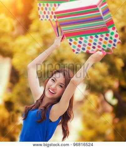 Asian Lady Enjoy Shopping