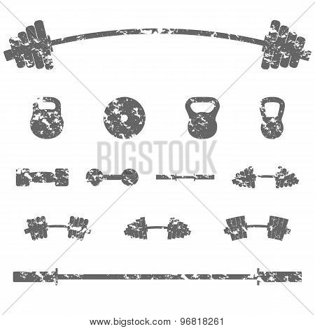 A Set Of Sports Equipment, Vector Illustration.