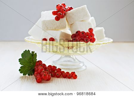 Delicate Souffle With Red Currant
