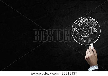 Drawing globe