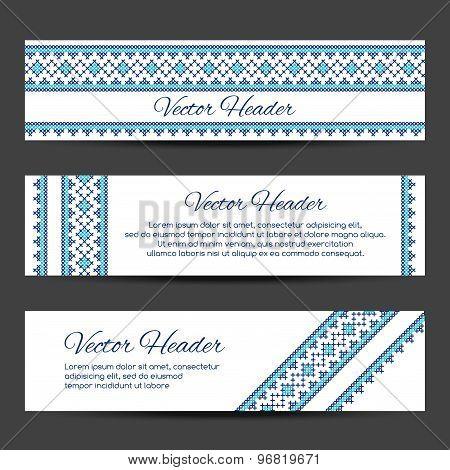 Header or banner design template