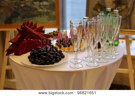 Buffet Table With Appetizers