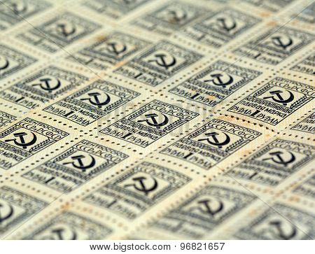 Postage Stamps, Close-up
