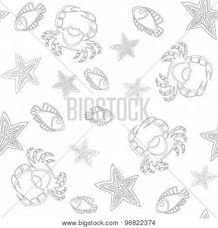 Underwater Life Seamless Pattern