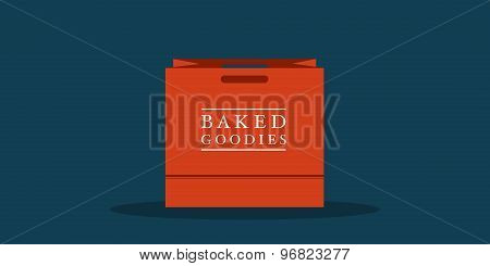 Flat Shopping Bag For Bakery, Cafe Or Restauarnt
