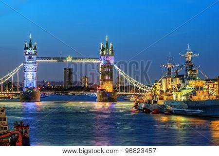 Twilight Tower Bridge