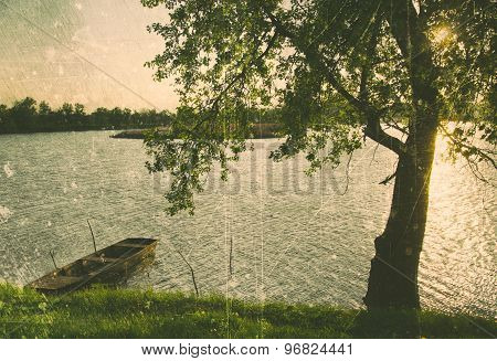 summer landscape in antique style