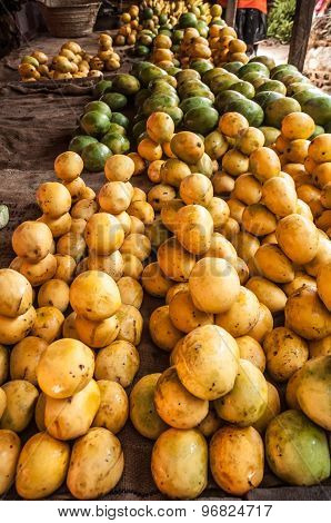 Mangoes At The Fruit Market
