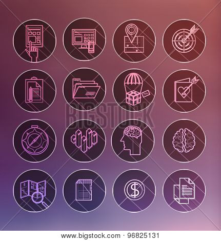 Set of 600 universal modern thin line icons for web and mobile