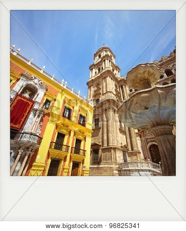 Instant Photo Of Cathedral Square In Malaga